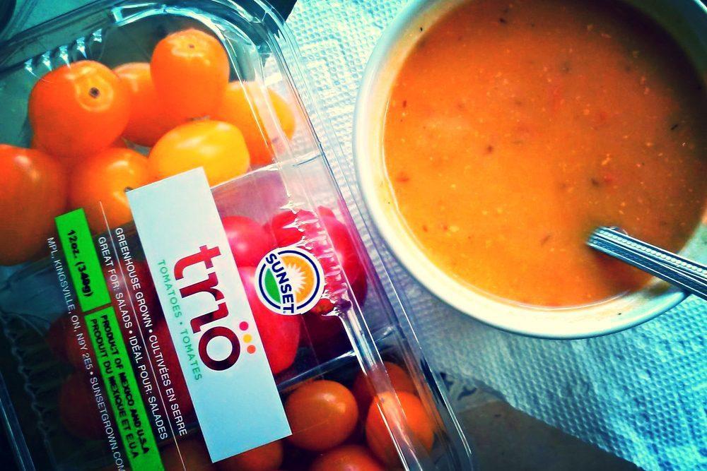 Harvest Tomato Cheddar-Feta Soup