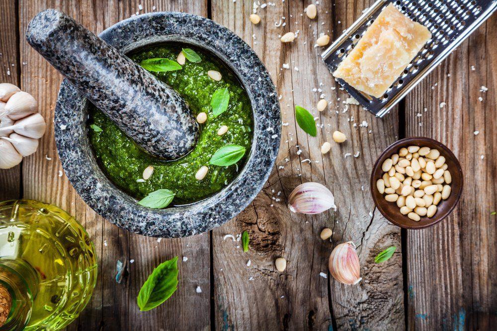 For traditional pesto, you