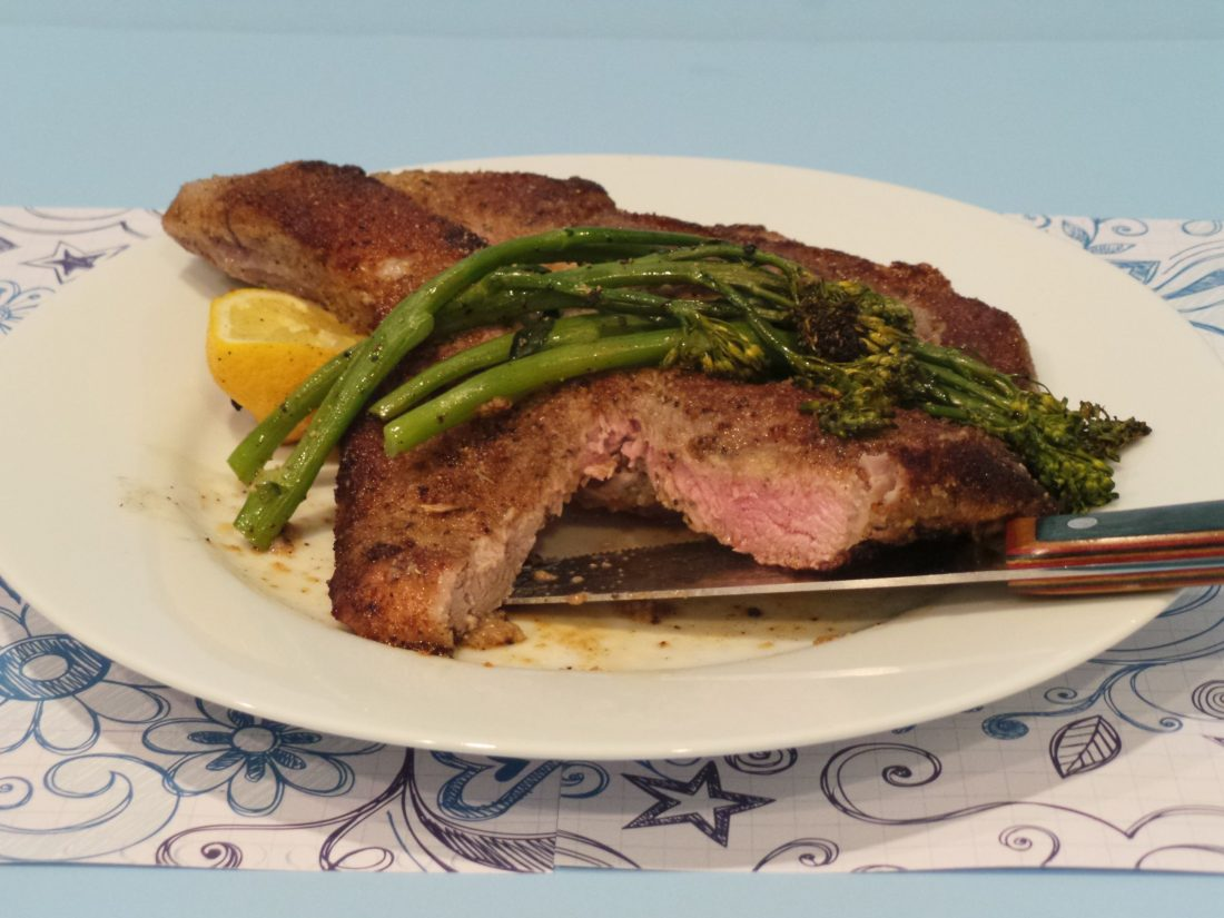 A Glamorous Christmas Dinner...Veal Chops Milanese