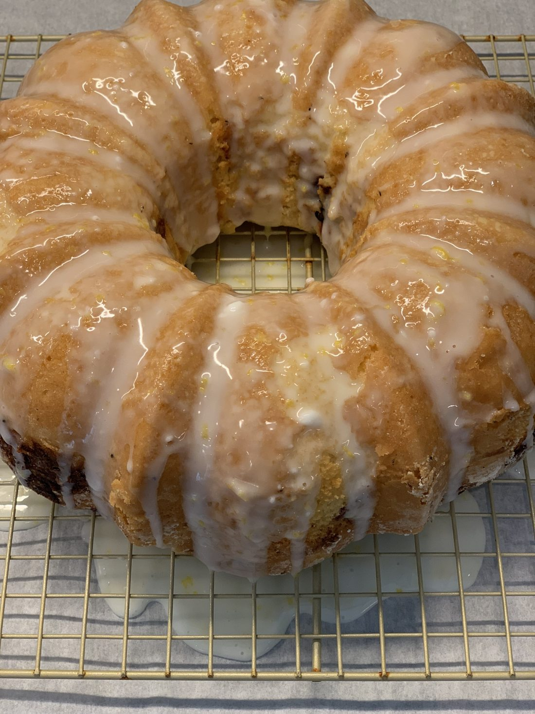 Delicious Lemon & Mixed Berry Bundt Cake…Invented from Leftovers!