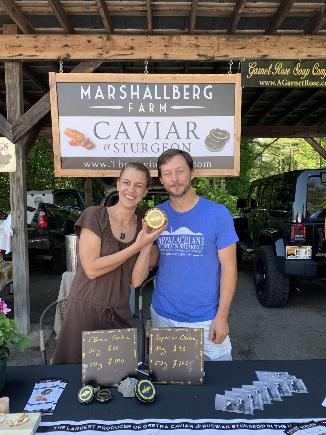Farmers Markets Have It All – even caviar! Caviar Recipe Ideas