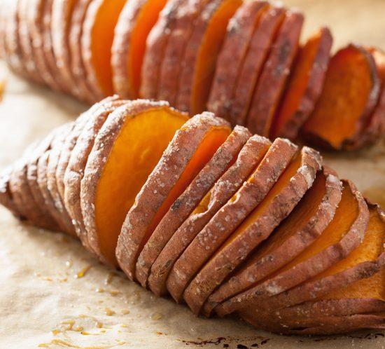 Hassleback Sweet Potatoes on Thanksgiving